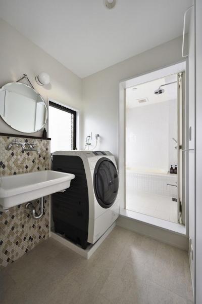 洗面・風呂 (住うと仕事を楽しむ、レトロな雰囲気)