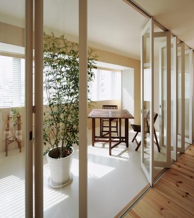 積窓居 Show Window House (4階住居/プライベートリビング インナーテラス)