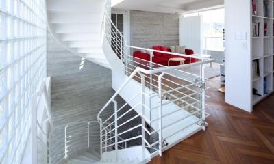 NW-PROJECT (リビング、階段)