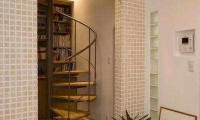 らせん階段|らせん階段のある家