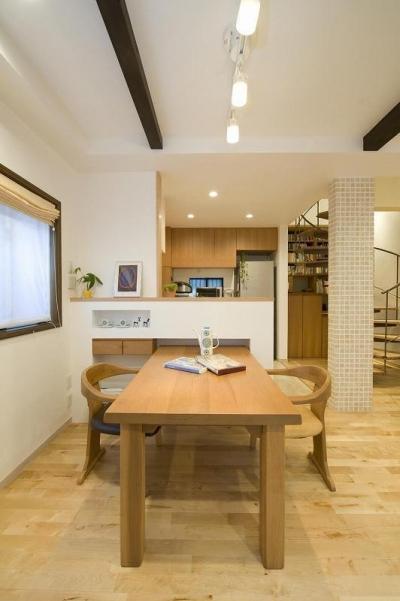 キッチン (らせん階段のある家)
