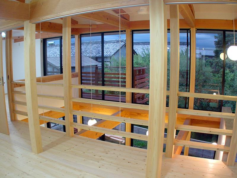 成長する家の部屋 開放感あふれる廊下