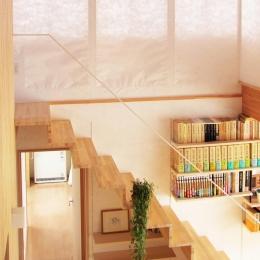 シンプルな階段 (白鷹の家)