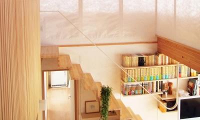白鷹の家 (シンプルな階段)