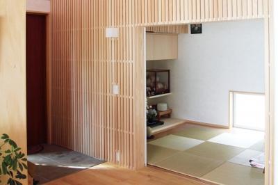 木格子のある和室 (白鷹の家)