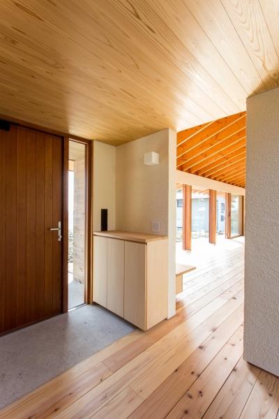 西根の家 (シンプルな玄関)