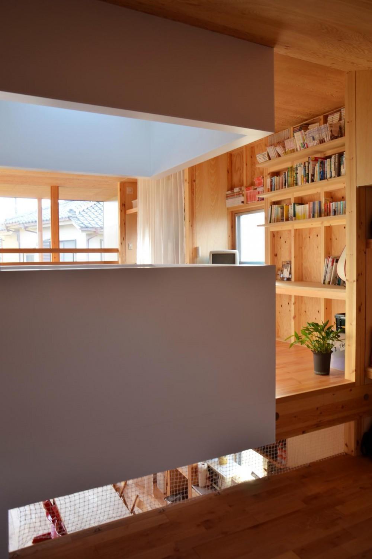 貫井北町の住宅 (スタディスペースを見通す)