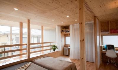 貫井北町の住宅 (2階室-2より南側を見る)