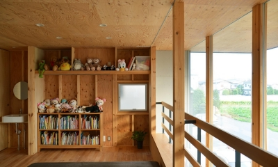 貫井北町の住宅 (2階室-2のフトコロとベンチ)