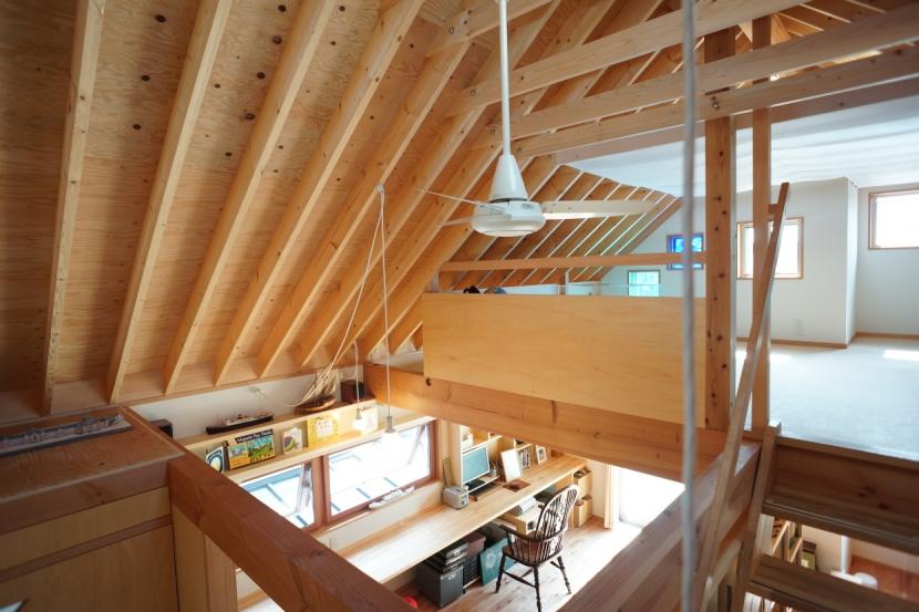 ののの家―コンパクトな2世帯住宅の部屋 ロフト