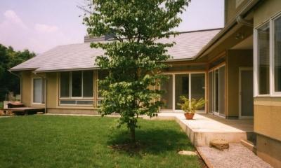 土間でつながる2世帯住宅