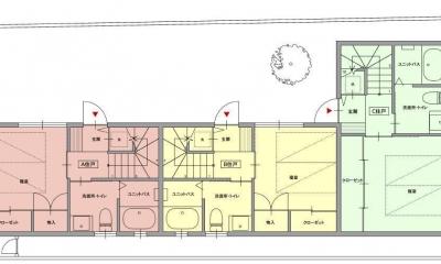 荻窪テラスハウス・アールグレイ (1階平面図)