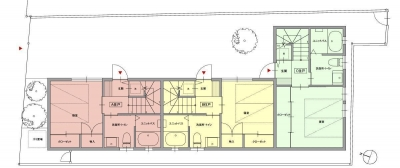 1階平面図 (荻窪テラスハウス・アールグレイ)