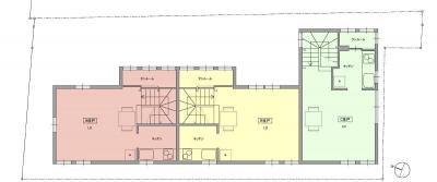 2階平面図 (荻窪テラスハウス・アールグレイ)
