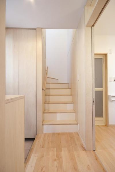 内装は賃貸住宅では非常に珍しい自然素材を用いた仕上げでまとめています。 (荻窪テラスハウス・アールグレイ)