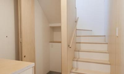 荻窪テラスハウス・アールグレイ (内装は賃貸住宅では非常に珍しい自然素材を用いた仕上げでまとめています。)
