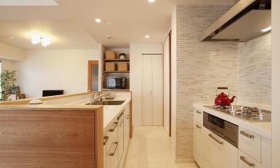 キッチン|ネコも家族も心地よく暮らせる家