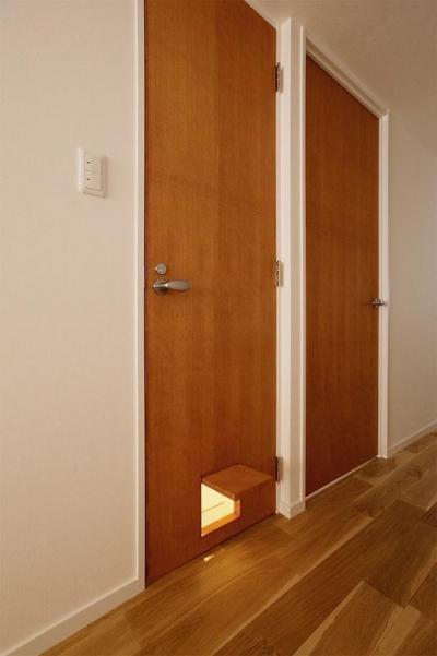 ドア (ネコも家族も心地よく暮らせる家)