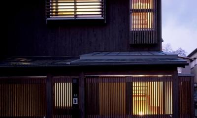 外観(夜景)|南城戸町の家