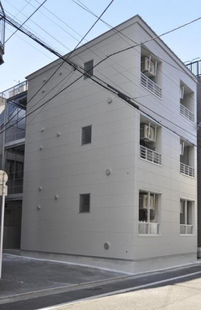 浅草橋木造耐火アパート ストゥディオ・アマナ (浅草橋駅の近くに「木造耐火」で 3階建てのワンルームの共同住宅を建てました。)