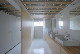 船橋のシェアハウス (シンプルな洗面室)