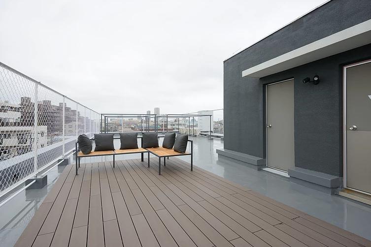 船橋のシェアハウスの部屋 ゆっくりと過ごせる屋上