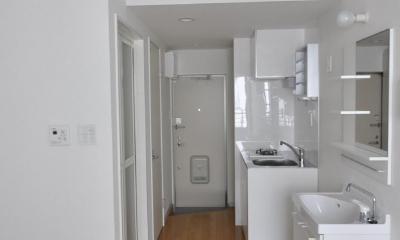 かなり小さなワンルームです。|浅草橋木造耐火アパート ストゥディオ・アマナ
