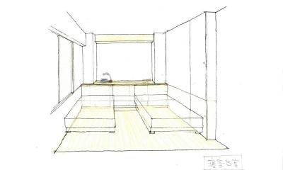 マンションリノベーション・S邸 (マンションリノベーション・S邸 寝室 スケッチ)
