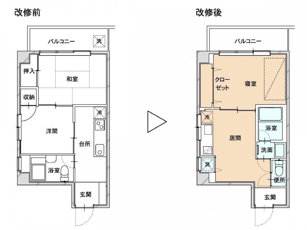 賃貸マンション リノベーション・2 (賃貸マンション リノベーション・2 平面)