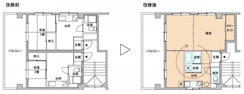 賃貸マンション リノベーション・3 (賃貸マンション リノベーション・3 平面)