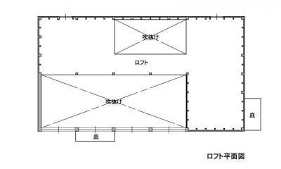 2階 引き渡し時 2階はセルフビルド用の倉庫になっています。|1000万円のハーフビルドの家