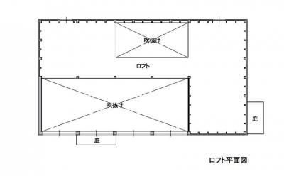 2階 引き渡し時 2階はセルフビルド用の倉庫になっています。 (1000万円のハーフビルドの家)