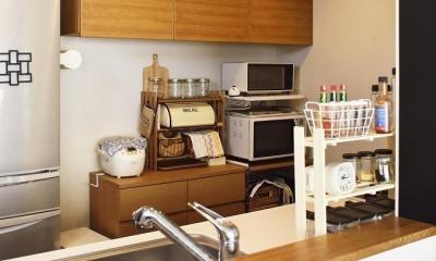 ちょこっとリノベで理想のデザインと素材感を実現 (キッチン収納)