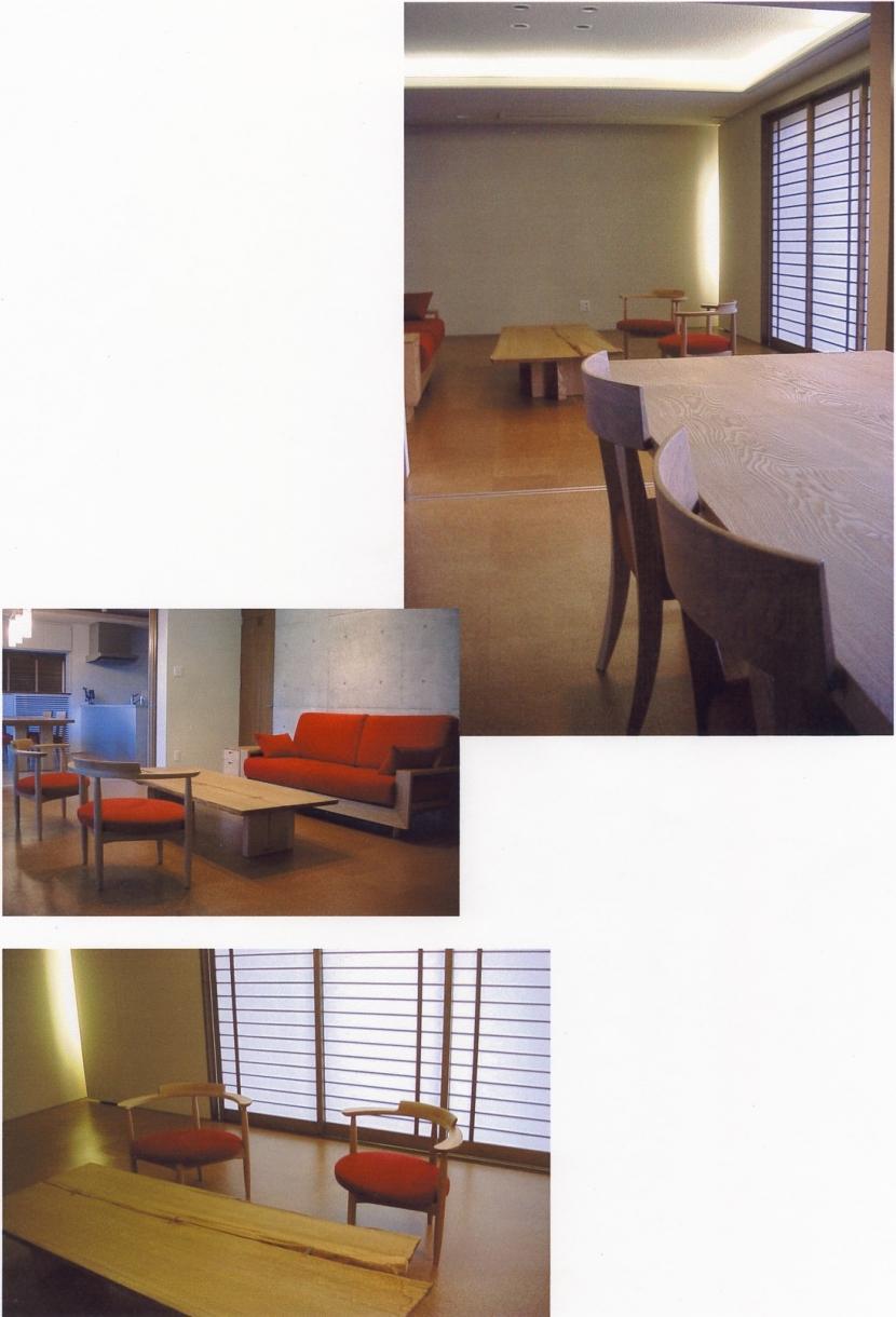 2階オープンテラスのある、焼きすぎレンガタイルの家 I邸の部屋 家具を置いたところ