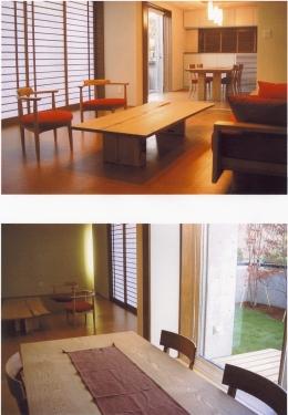 2階オープンテラスのある、焼きすぎレンガタイルの家 I邸 (家具を置いたところ)