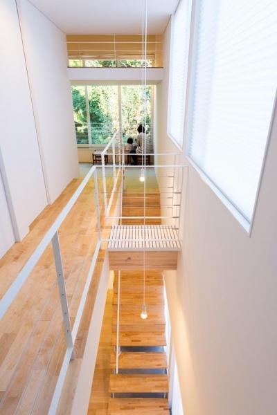 刈羽村の家 (2階 森と和室をみる)