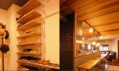 カフェ風住まいを楽しむ (玄関)