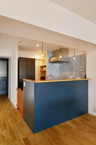 キッチン (MUJIの家具で最初から計画する 子どもを見守る間取りと自然素材の家)