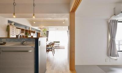 MUJIの家具で最初から計画する 子どもを見守る間取りと自然素材の家 (和室)