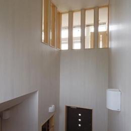 小坂渡ノ羽の家 (玄関ホール上の吹き抜け)