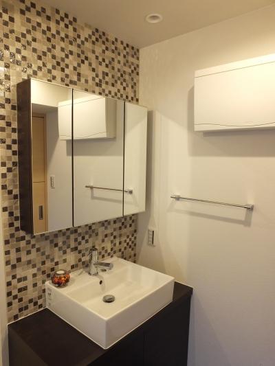 ホテルのような洗面 (ホテルのような都会的でシンプルな内装を我が家に。)