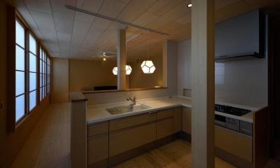 機能的なキッチン|UH-tei