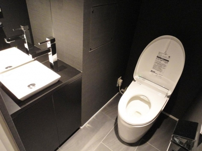 トイレ (スタイリッシュなブラックモダン)