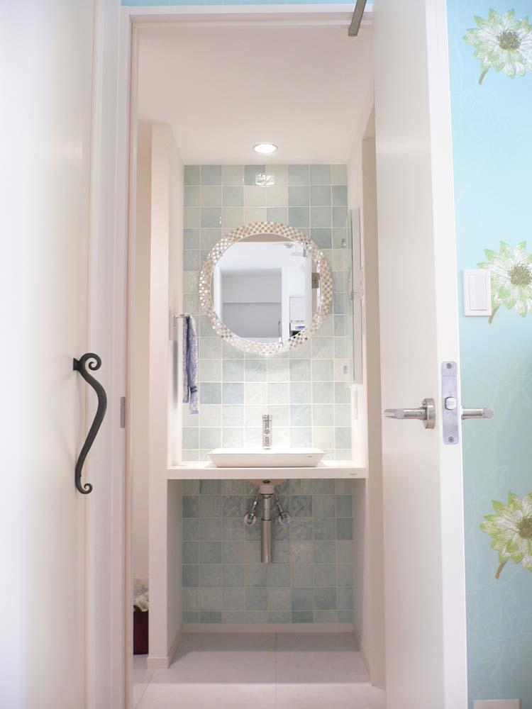 SOHO 一人暮らしの充実リノベーションの写真 こだわりの洗面台