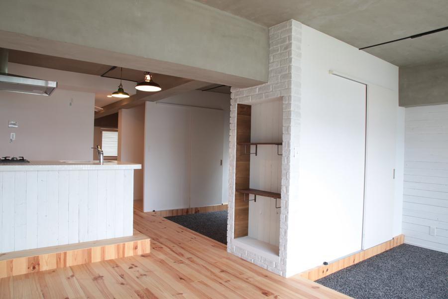 LDKと個室がゆるやかにつながるリラックス空間 (オープンな2つの個室)