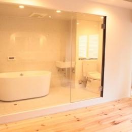 LDKと個室がゆるやかにつながるリラックス空間 (ホテルのようにスタイリッシュなサニタリー)