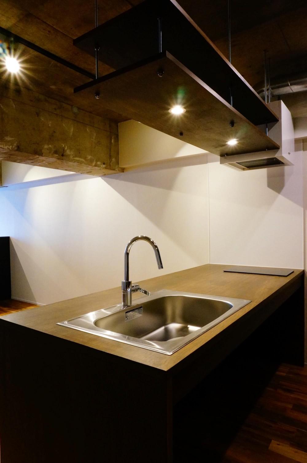 北参道のマンションリノベーション (キッチン)