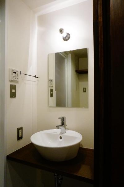 北参道のマンションリノベーション (洗面室)