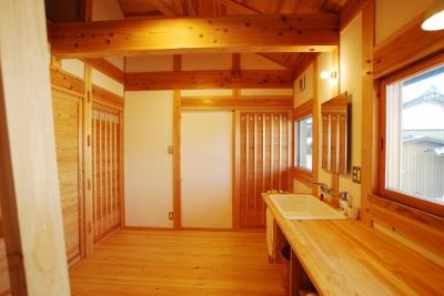 洗面 (ibushi-京壁の家)