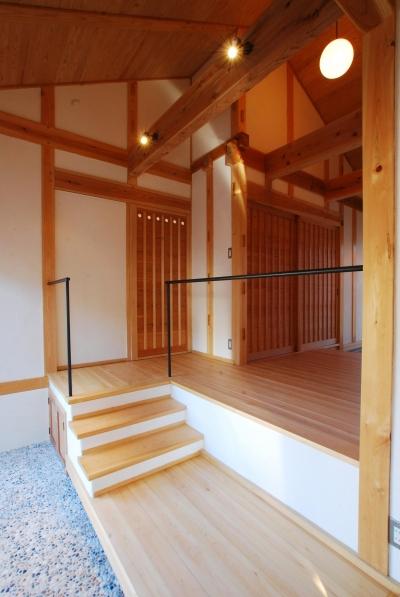 玄関 (ibushi-京壁の家)